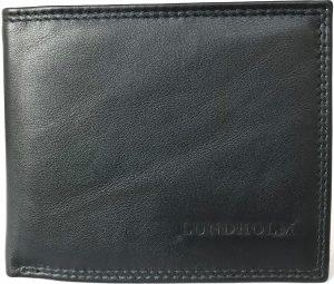 Lundholm RFID - Portemonnee heren leer Compact model | billfold RFID anti-skim bescherming - zwart