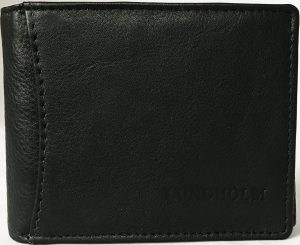 Lundholm - Portemonnee heren leer- compact en billfold formaat - RFID anti skim - zwart