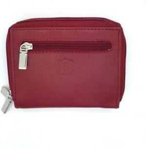 Kleingeld / muntstukken portemonnee in kwaliteitsleder rood 29727