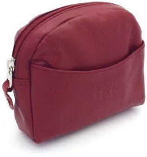 Kleingeld portemonnee leder rood 29427