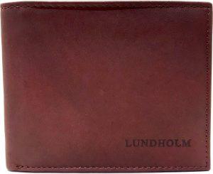 Lundholm - Luxe leren portemonnee heren - Hoge kwaliteit leer - kastanje bruin