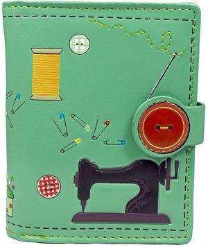 Shagwear Portemonnee - Compact Beugelportemonnee - Dames - Kunstleer - Sewing Needs (0389sm)