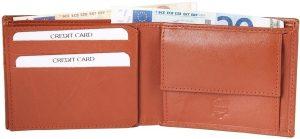 Akzent heren portemonnee - Billfold - bruin - echt leer