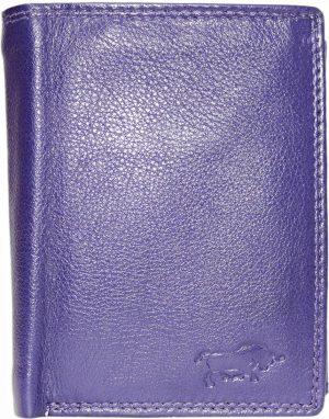 Aubergine rundleren billfold euro portemonnee met bakje voor kleingeld met druksluiting en 2 vakken voor briefgeld