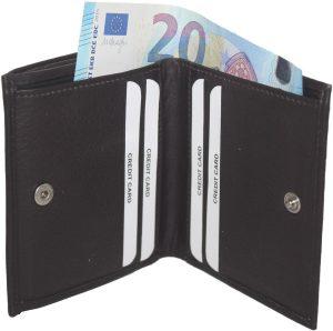BURKELY dames portemonnee-kleingeld aan de buitenkant Bruin