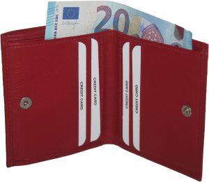 BURKELY dames portemonnee-kleingeld aan de buitenkant rood