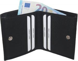 BURKELY dames portemonnee-kleingeld aan de buitenkant zwart