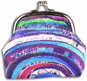 BiggDesign Boze Oog Kleingeld Tas / Portemonnee , Speciaal Ontwerp , Trendvol Tasje voor Vrouwen , gemaakt van PU leer , 9.5 x 8 cm, Kleurrijk , Blauw , klein