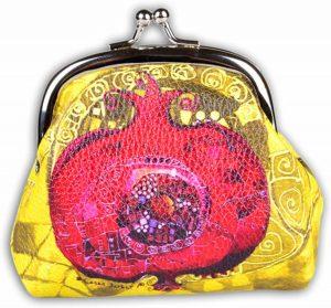BiggDesign Granaatappel Kleingeld Tas / Portemonnee , 9.5 x 8 cm , Voor Vrouwen , Speciaal Ontwerp , gemaakt van PU leer , Modieus , Kleurrijk , Rood