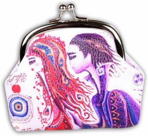BiggDesign liefde Kleingeld Tas / Portemonnee , Speciaal Ontwerp , Trendvol voor Vrouwen , gemaakt van PU leer, 9.5 x 8 cm , Klein , Modieus , Kleurrijk
