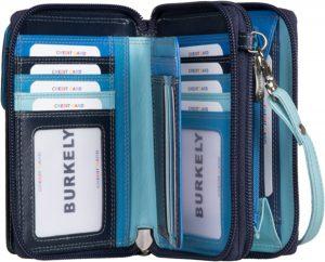 Burkely multicolour portemonnee tasje Blauw