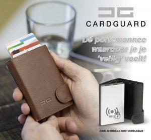 Card Guard kaartbeschermer Bruin - Protector Wallet Portemonnee - Kaarthouder - Anti-diefstal portemonnee