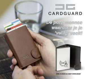 Card Guard kaartbeschermer Zwart - Protector Wallet Portemonnee - Kaarthouder - Anti-diefstal portemonnee