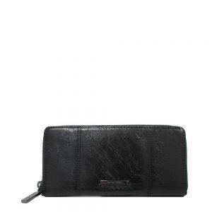Claudio Ferrici Pelle Vecchia Ziparound Wallet Black 22048
