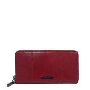 Claudio Ferrici Pelle Vecchia Ziparound Wallet Red 22048