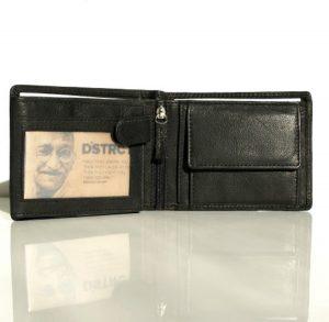 DSTRCT Heren Portemonnee - 9 pasjes - Zwart