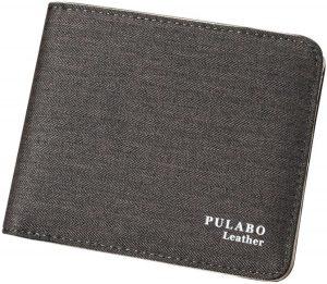 Donkere Grijze Pulabo Portemonnee - Portefeuille - Portemonnee - Heren Billfold - 9.5 bij 11.5cm