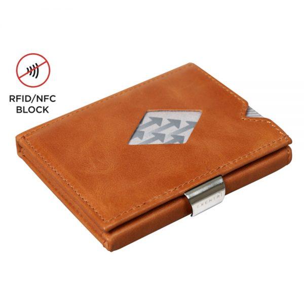 Exentri Wallet met RFID Bescherming Cognac