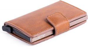 Figuretta RFID Creditcardhouder - 6 pasjes - Cognac