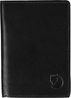 Fjallraven Leather Passport Cover Portemonnee - Black