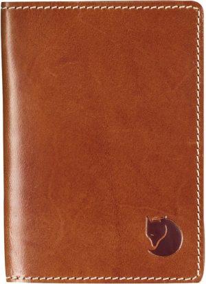 Fjallraven Leather Passport Cover Portemonnee - Leather Cognac