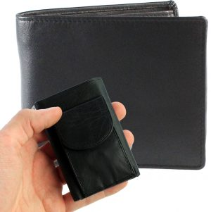 Heren Portemonnee Zwart met Mini Portemonnee