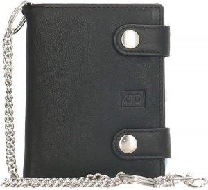 Heren portemonnee Leer - Ketting - Afsluitbaar - RFID Anti Skim