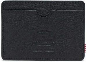 Herschel Supply Co. Charlie Portemonnee - Black Pebbled Leather