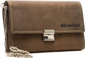 HillBurry - 5077 - horeca portemonnee - hunter bruin - leer