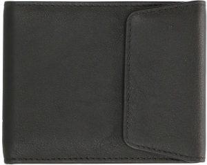 Knijpportemonnee Met RFID - De Ouderwetse Portemonnee Van Geheel LEDER-Zwart