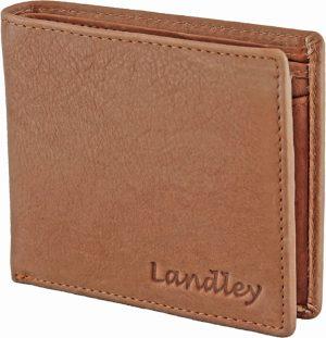 Landley Heren Portemonnee Leer - Plat model - RFID Bescherming tegen skimmen - Cognac