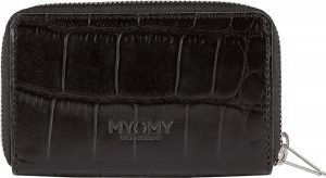 MYOMY My Paper Bag portemonnee M croco black