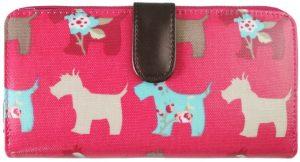 Miss Lulu Dames Portemonnee - Beugelportemonnee - Damesportemonnee met Hondenmotief - Kunstleer - Roze(L1109DG PM)