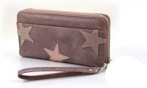 Roze Dames portemonnee met sterren 2.0