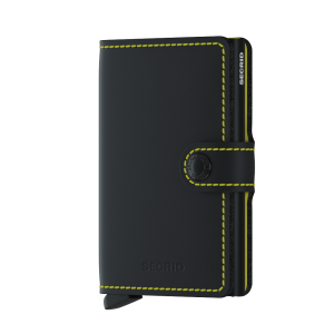Secrid Mini Wallet Portemonnee Matte Black/ Yellow