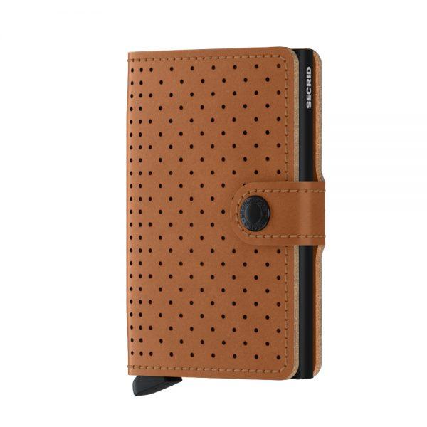 Secrid Mini Wallet Portemonnee Perforated Cognac