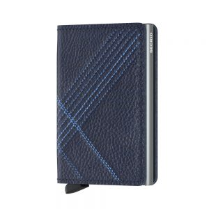 Secrid Slim Wallet Portemonnee Stitch Linea Navy