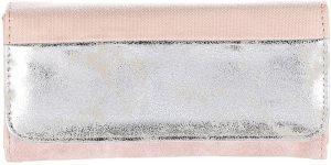 Ultimate Travelstyle | dames portemonnee met overslag| metallic | roze | 19x11x2.5 cm