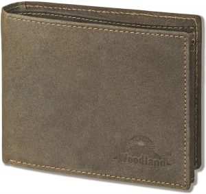 Woodland - Heren Portemonnee Leer Billfold - RFID anti skim - Bruin