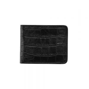 dR Amsterdam Croco Billfold Black 24559