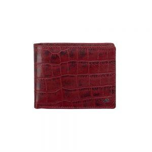dR Amsterdam Croco Billfold Red 24559