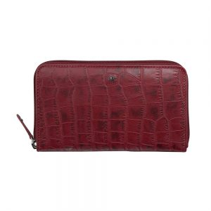 dR Amsterdam Croco Damesportemonnee Red 24177