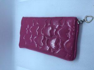 schattig klein Tasje - Munten Zakje / Portemonnee - Kinderen en Volwassenen - Roze met Lusje - PU Leer