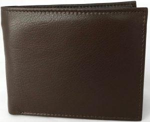 Lundholm - Heren leren portemonnee heren bruin - soepel leer | portemonnee jongens bruin