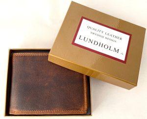Lundholm Luxe heren portemonnee heren leer bruin - cadeau voor man - cadeau set mannen geschenkset voor hem - mannen cadeautje