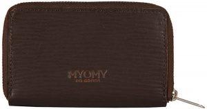 MYOMY Dames portemonnee My Paper Bag Wallet Leer - bruin
