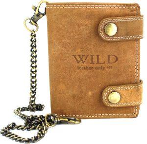Portemonnee heren Wild leder d.bruin 9,5x2x12cm(RS401NC-13) -