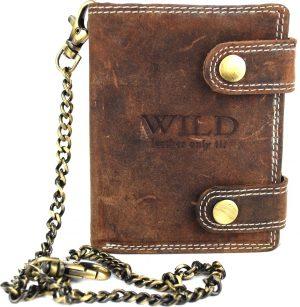 Portemonnee heren Wild leder d.bruin 9,5x2x12cm(RS401NC-15) -