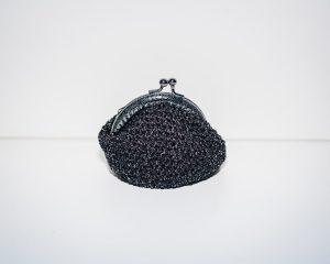 Handgemaakte Portemonnee Geldbeurs Geldclip Kleingeld Geldtasje Zwart Voor Op Reis Cadeau Geschenk Vrouw Kind Gift Knip Beurs