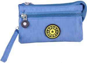 Nylon portemonnee - Blauw